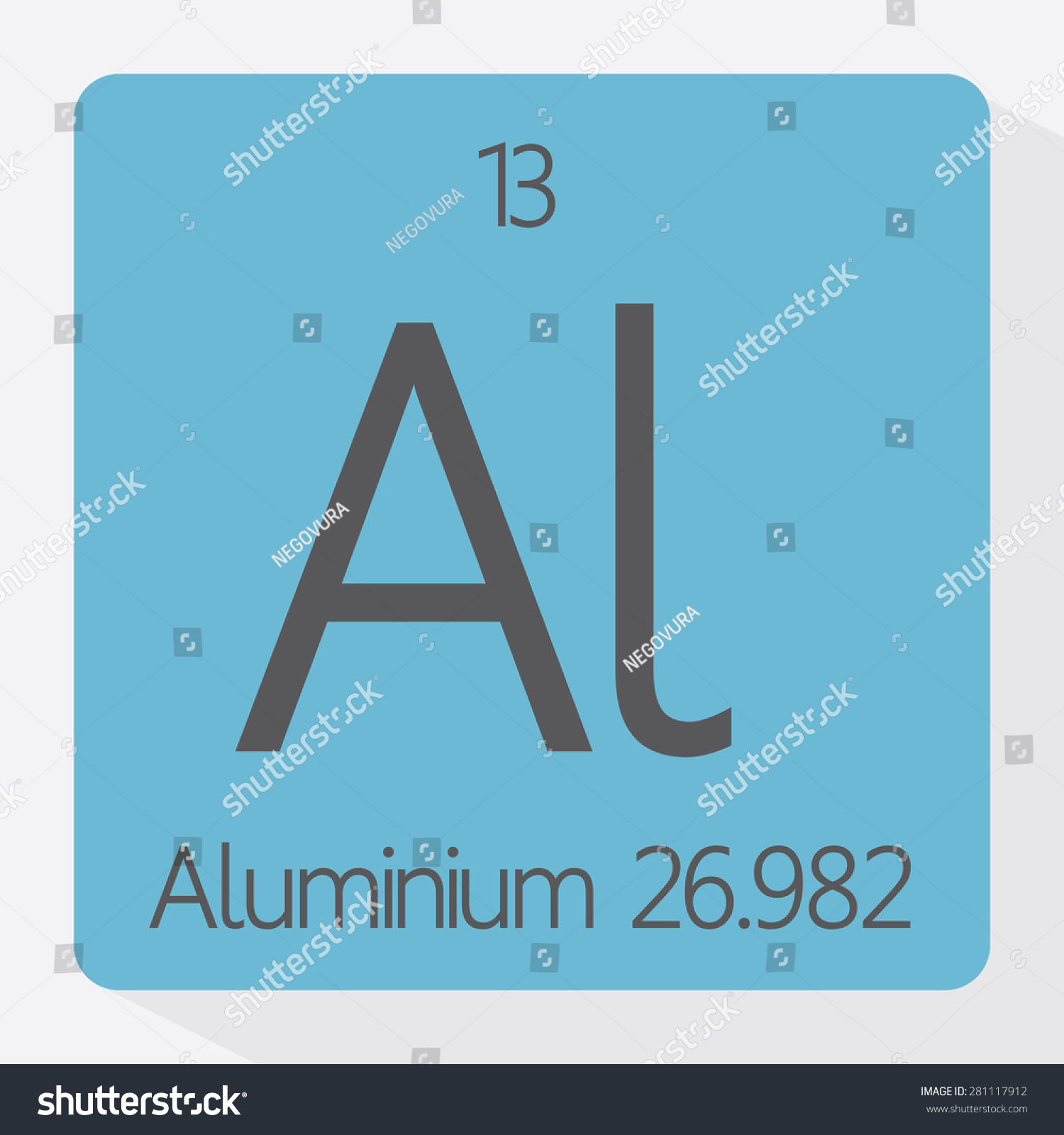 Periodic table aluminium stock vector 281117912 shutterstock periodic table aluminium gamestrikefo Gallery
