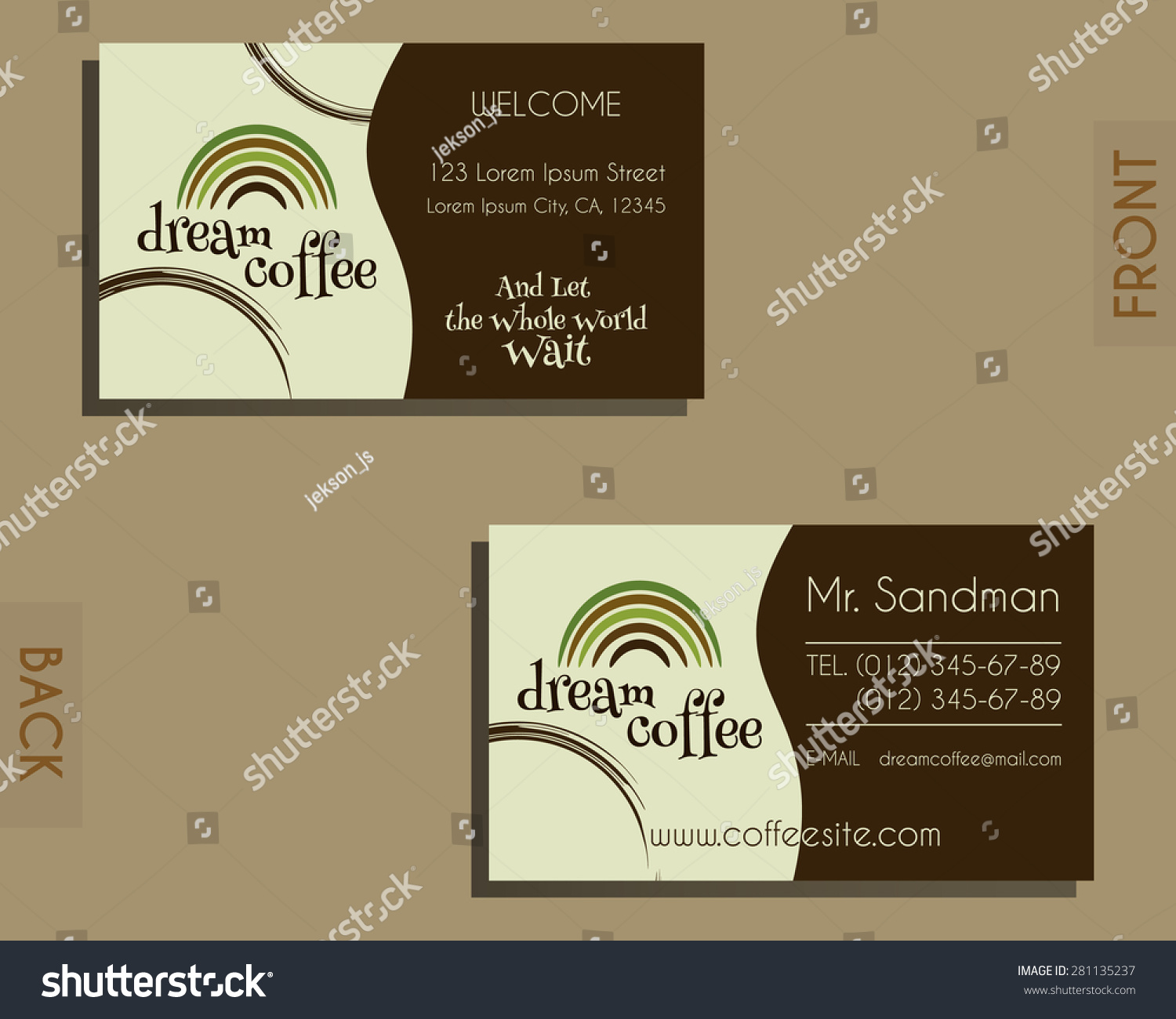 brand identity elements visiting card template stock vector
