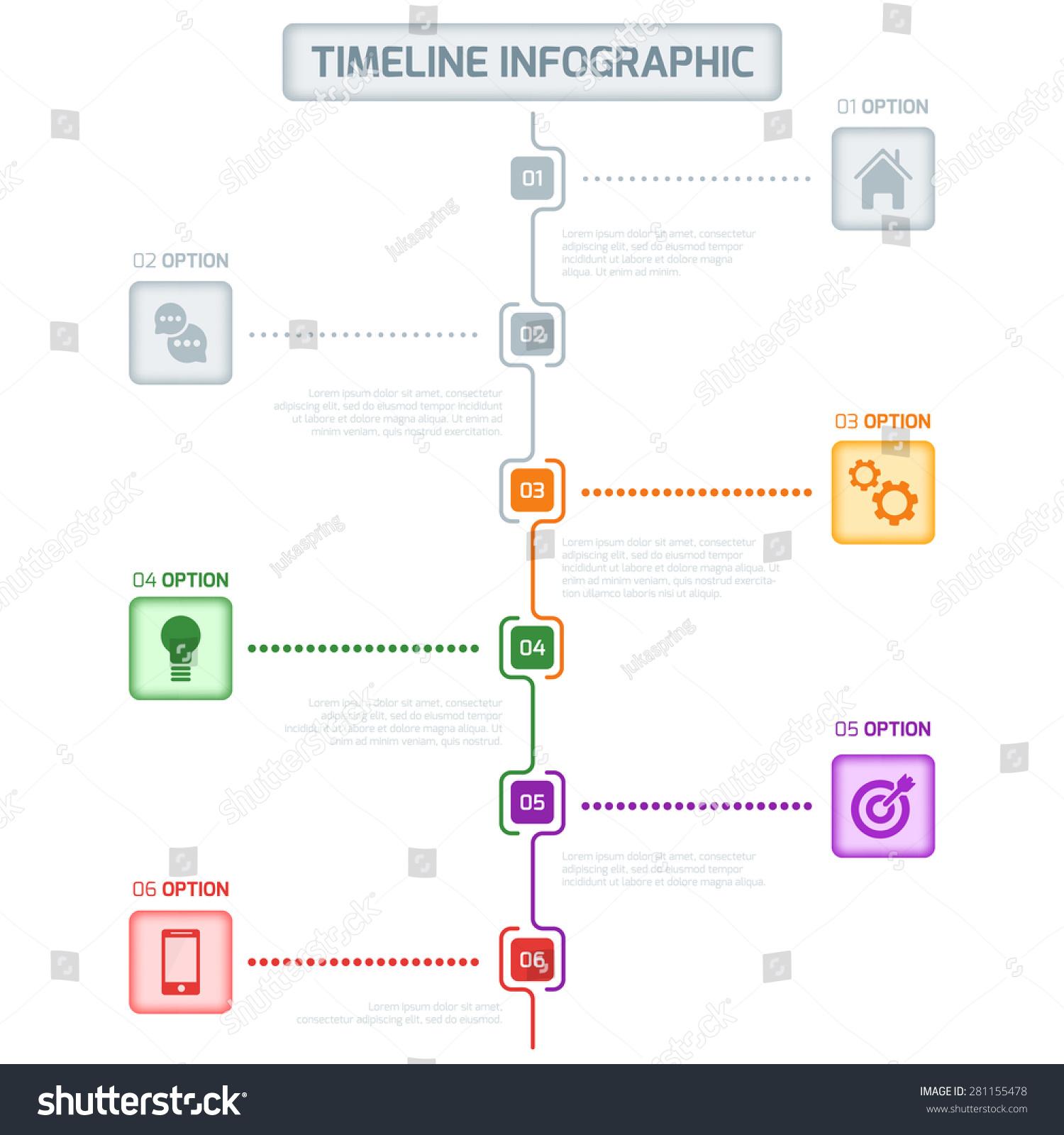 timeline infographic vector cv resume business presentation project workflow design template. Black Bedroom Furniture Sets. Home Design Ideas