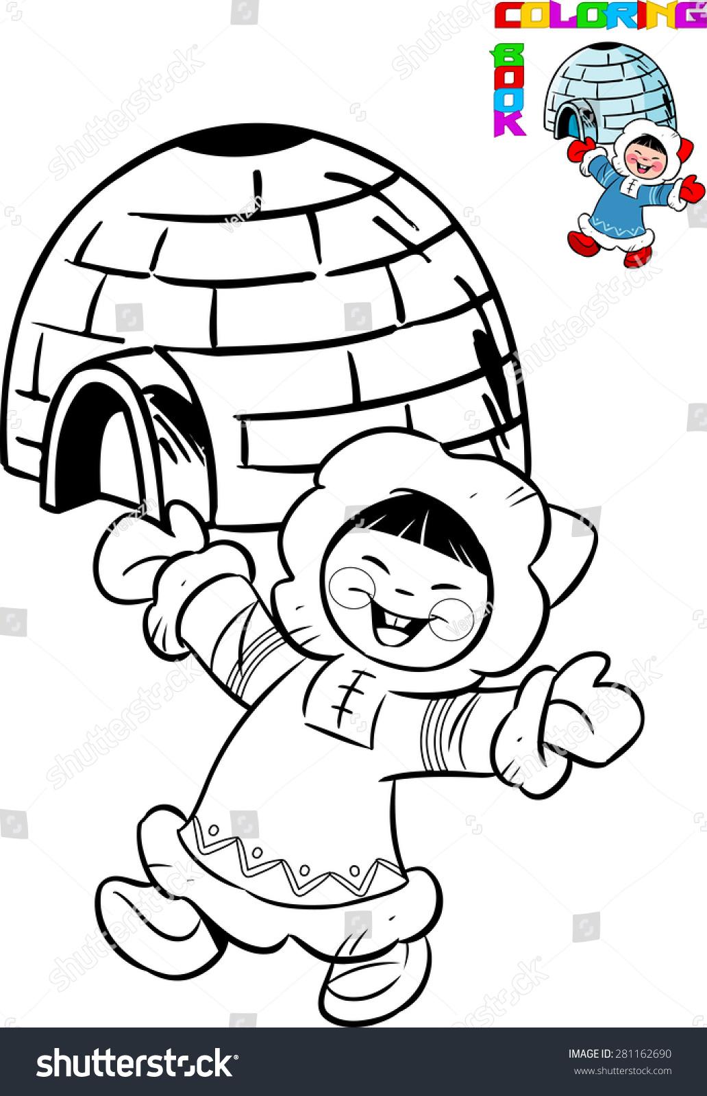 Раскраска эскимосы для детей