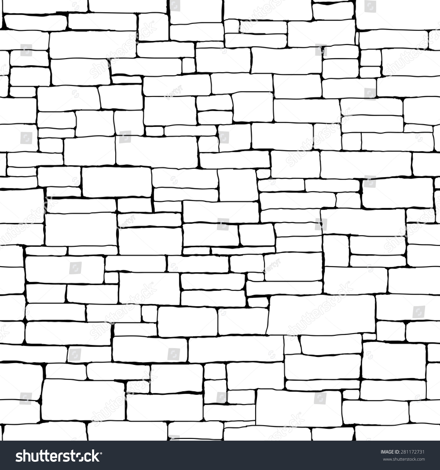 Seamless vector background black white stone stock vector for Different wallpapers for walls