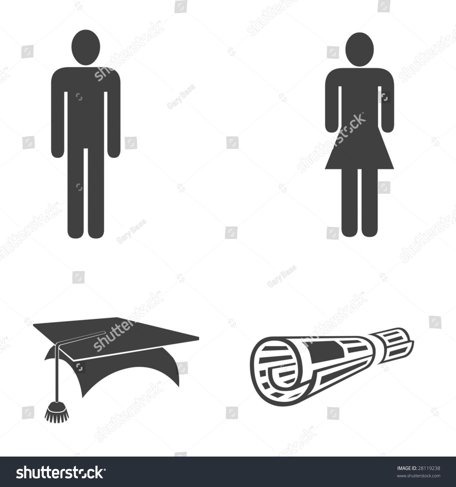 Graduation Symbols Stock Illustration 28119238 Shutterstock