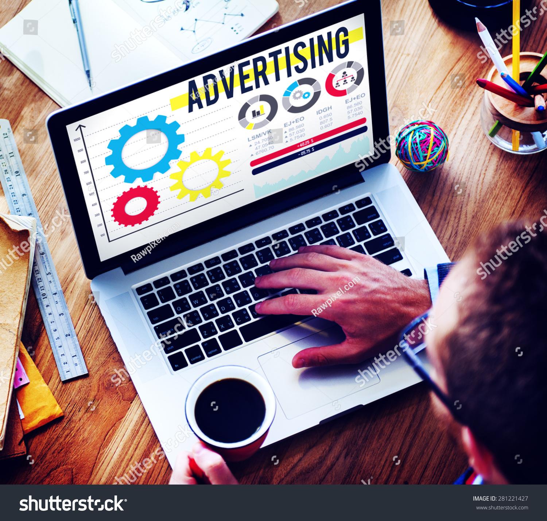 Advertise Advertising Advertisement Branding Concept #281221427
