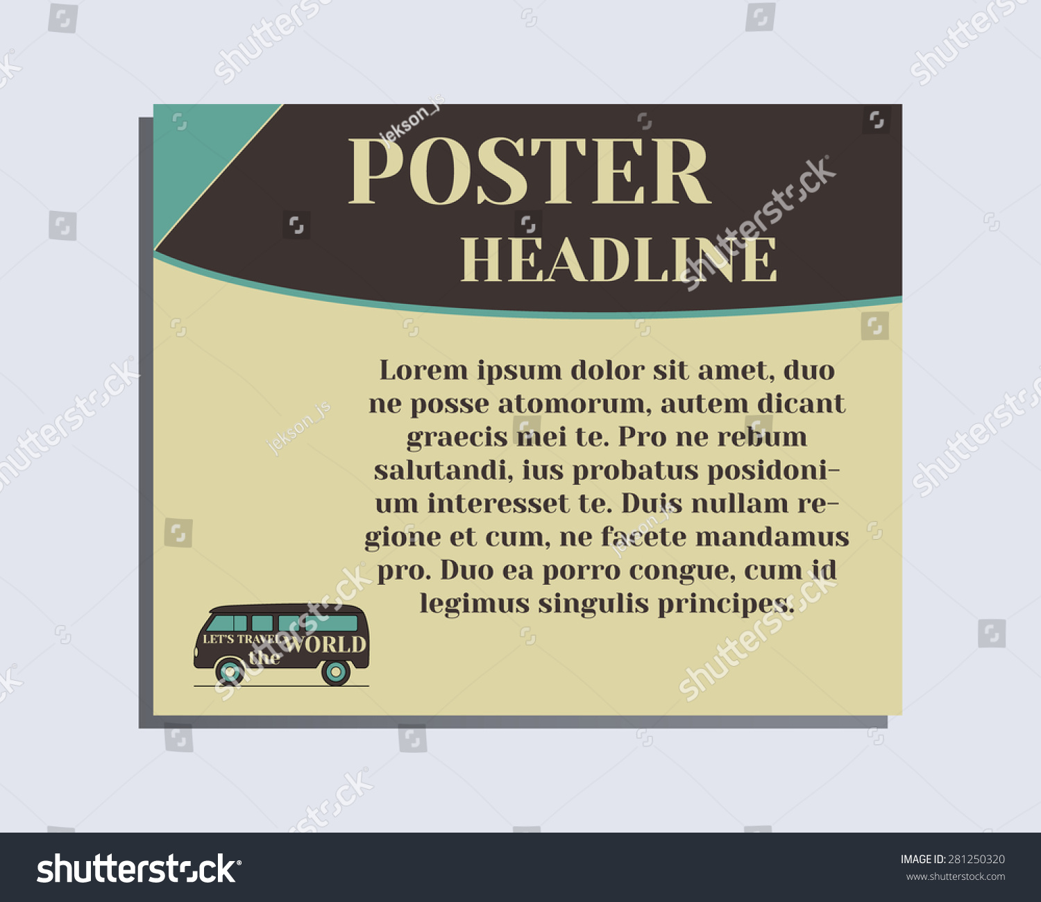 Poster design layout - Travel And Camping Poster Design Layout Template Rv Park And Campground Triangle Abstract Style