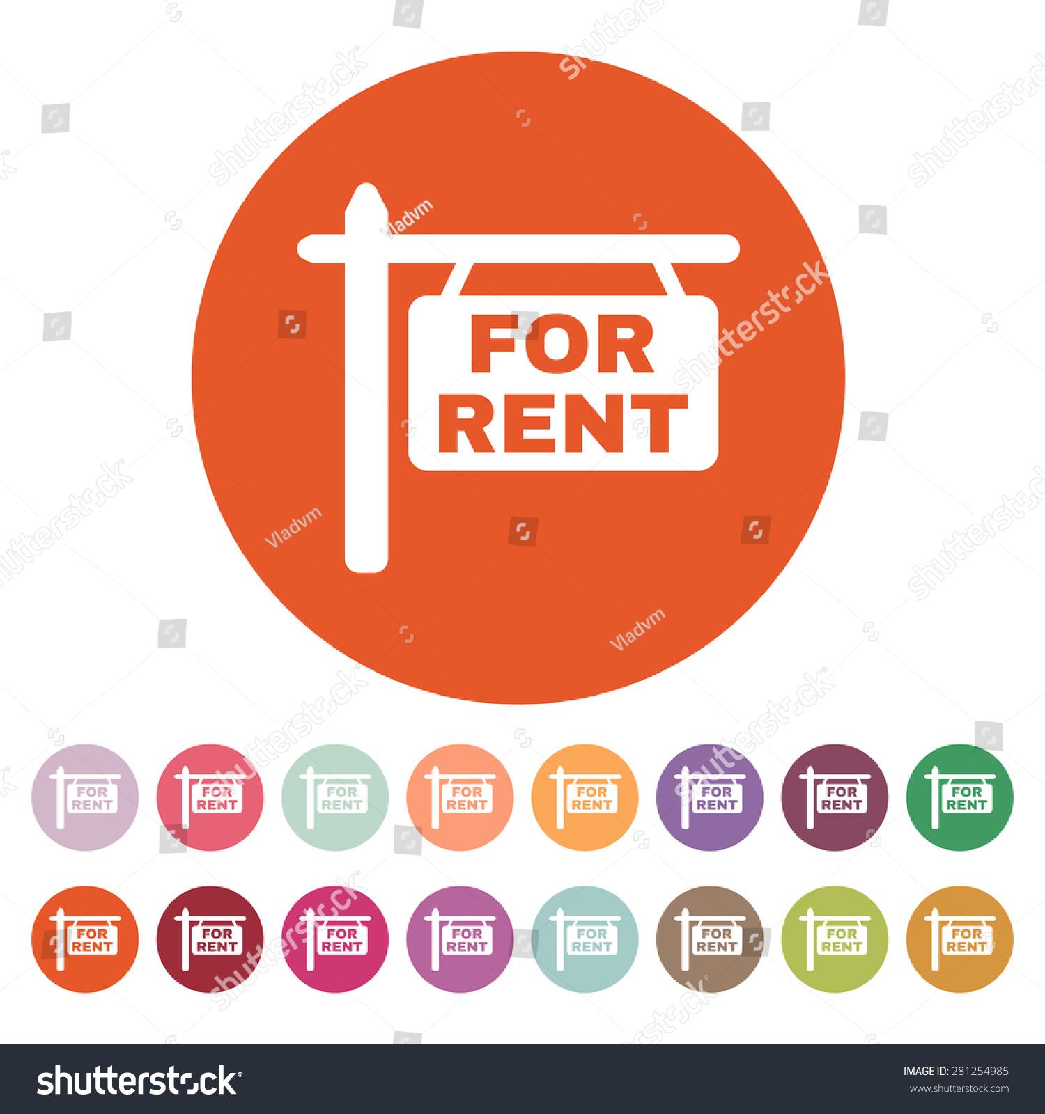 Rent Icon Rent Symbol Flat Vector Stock Vector 281254985 ...