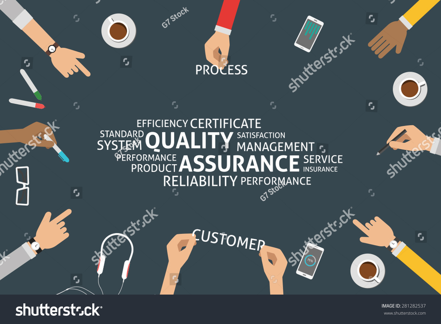 Vector Quality Assurance Concepttemplate Stock Vector 281282537 ...