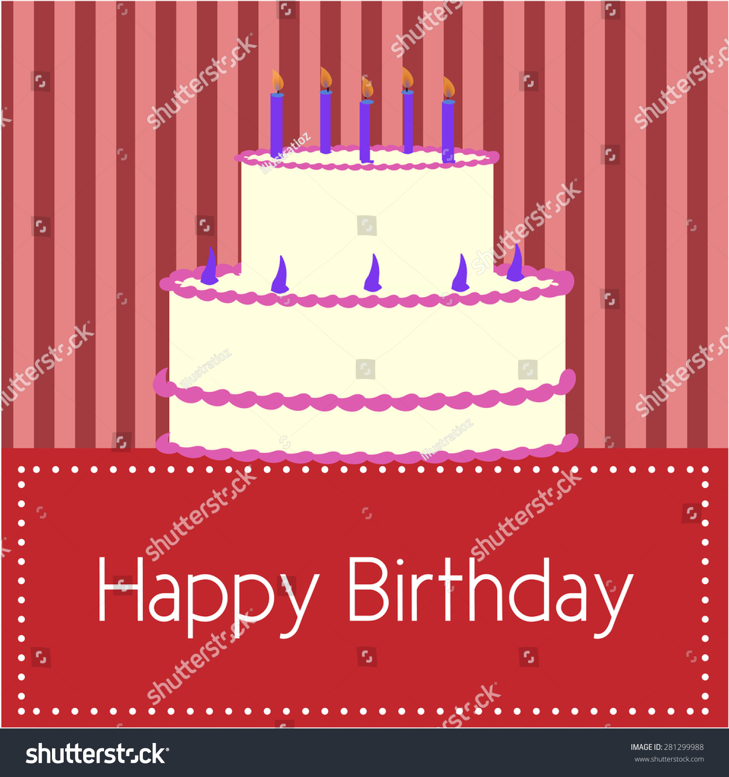 Colored background text birthday cake vector stock vector for Ascii decoration
