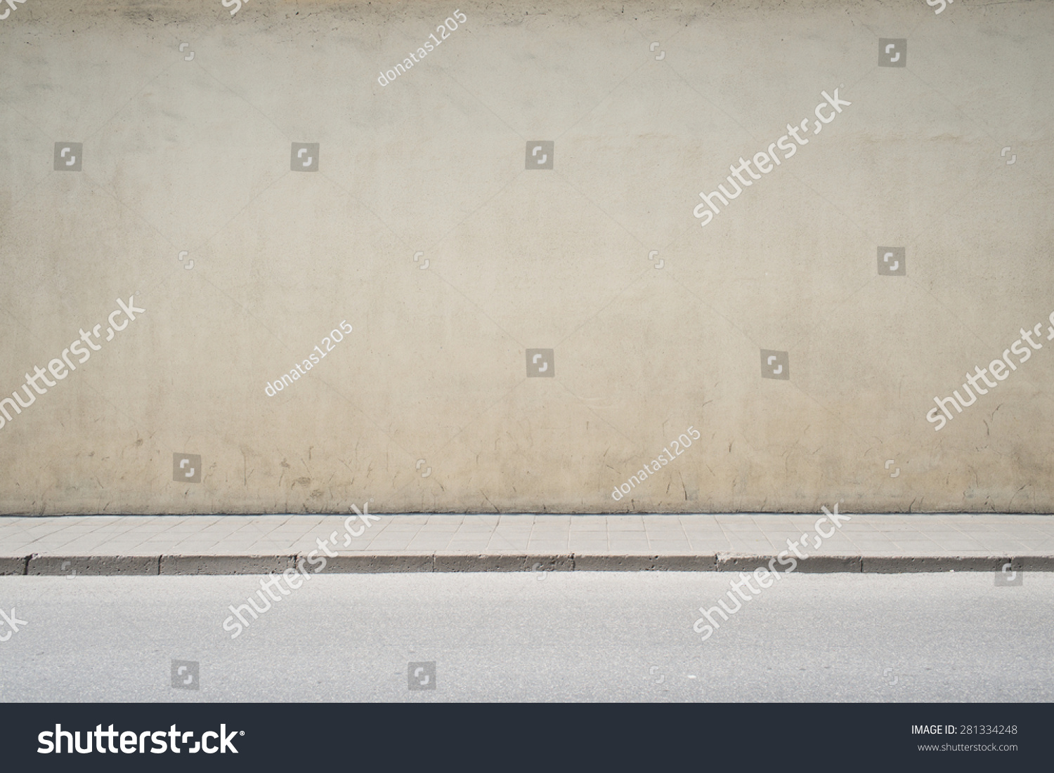 Urban Background. Empty Street Wall And Pavement Stock ...