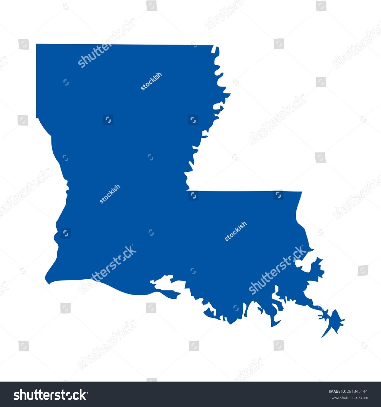 Louisiana Usa State Map Fleur De Stock Vector Shutterstock - Louisiana in usa map