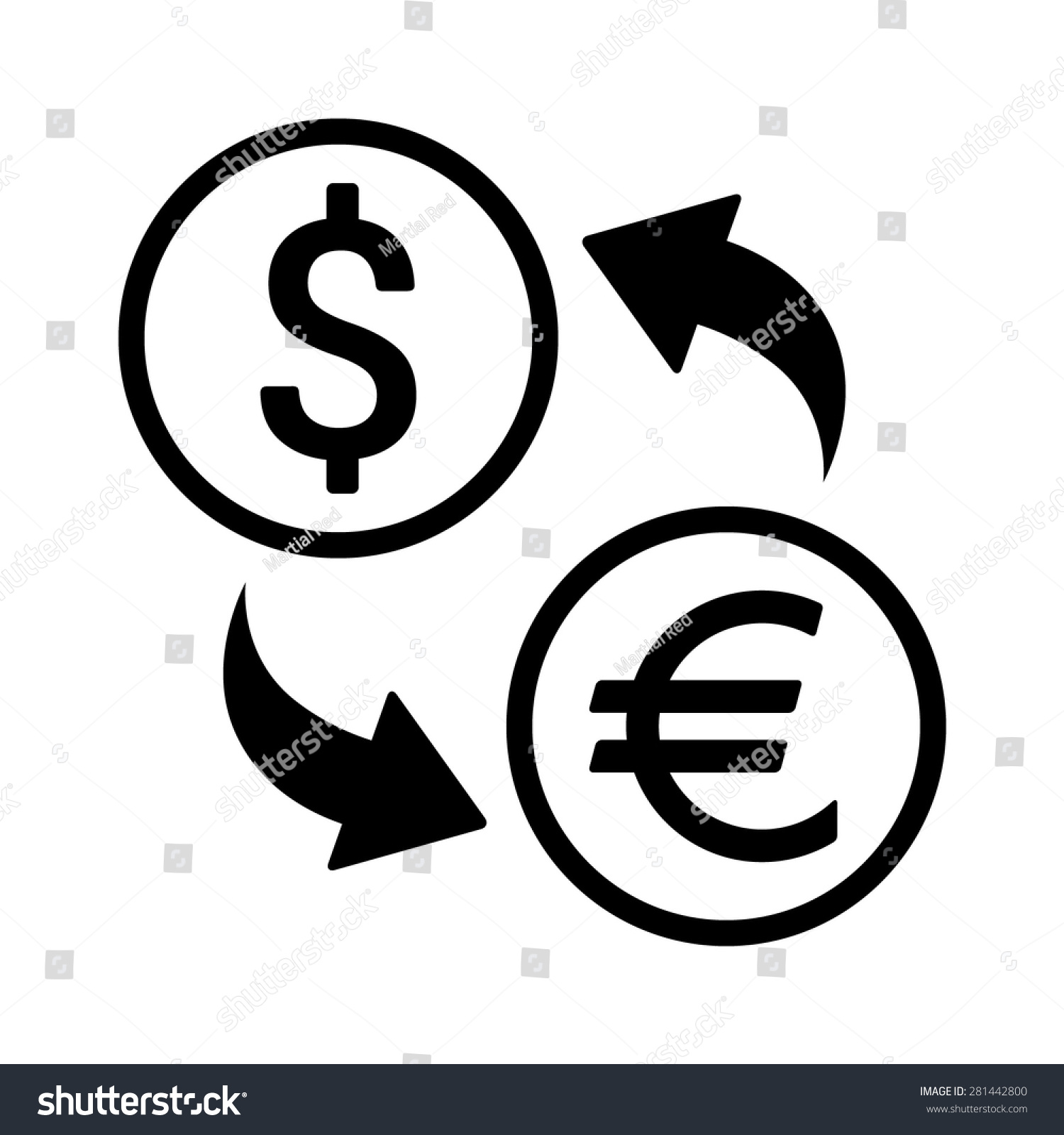 Line Art App : Foreign currency exchange line art icon for apps and