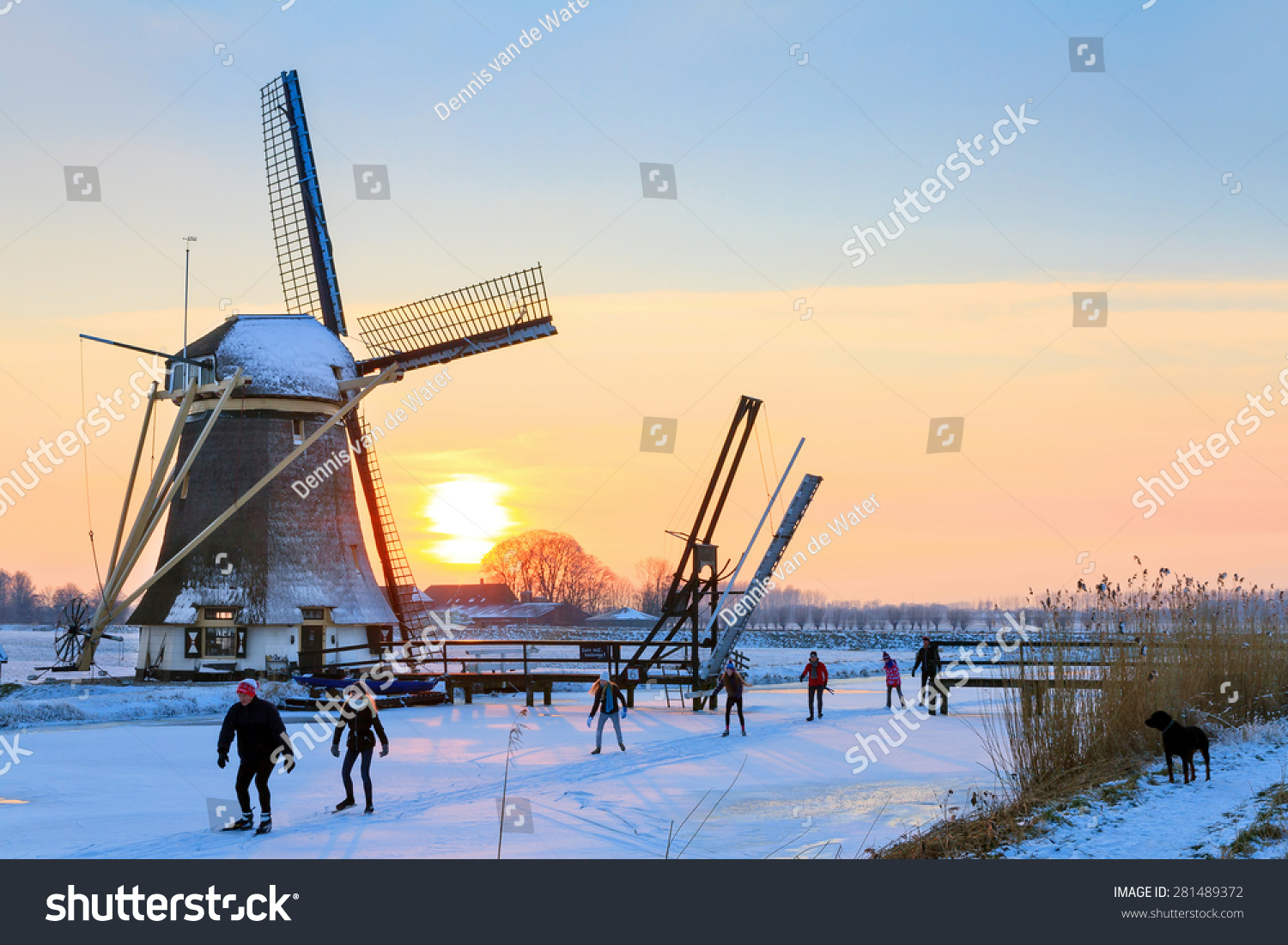 Abcoude Netherlands  City pictures : ABCOUDE, THE NETHERLANDS FEBRUARY 4, 2012: Beautiful typical dutch ...
