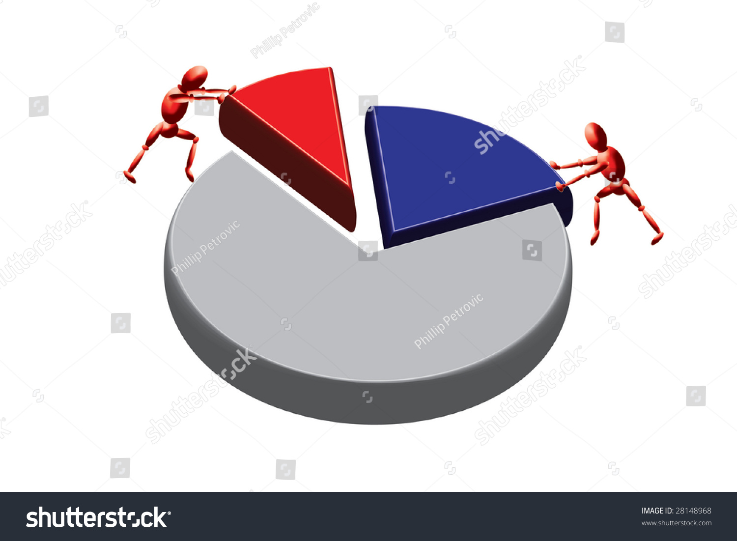 Working solve problems pie chart stock illustration 28148968 working to solve problems pie chart nvjuhfo Image collections