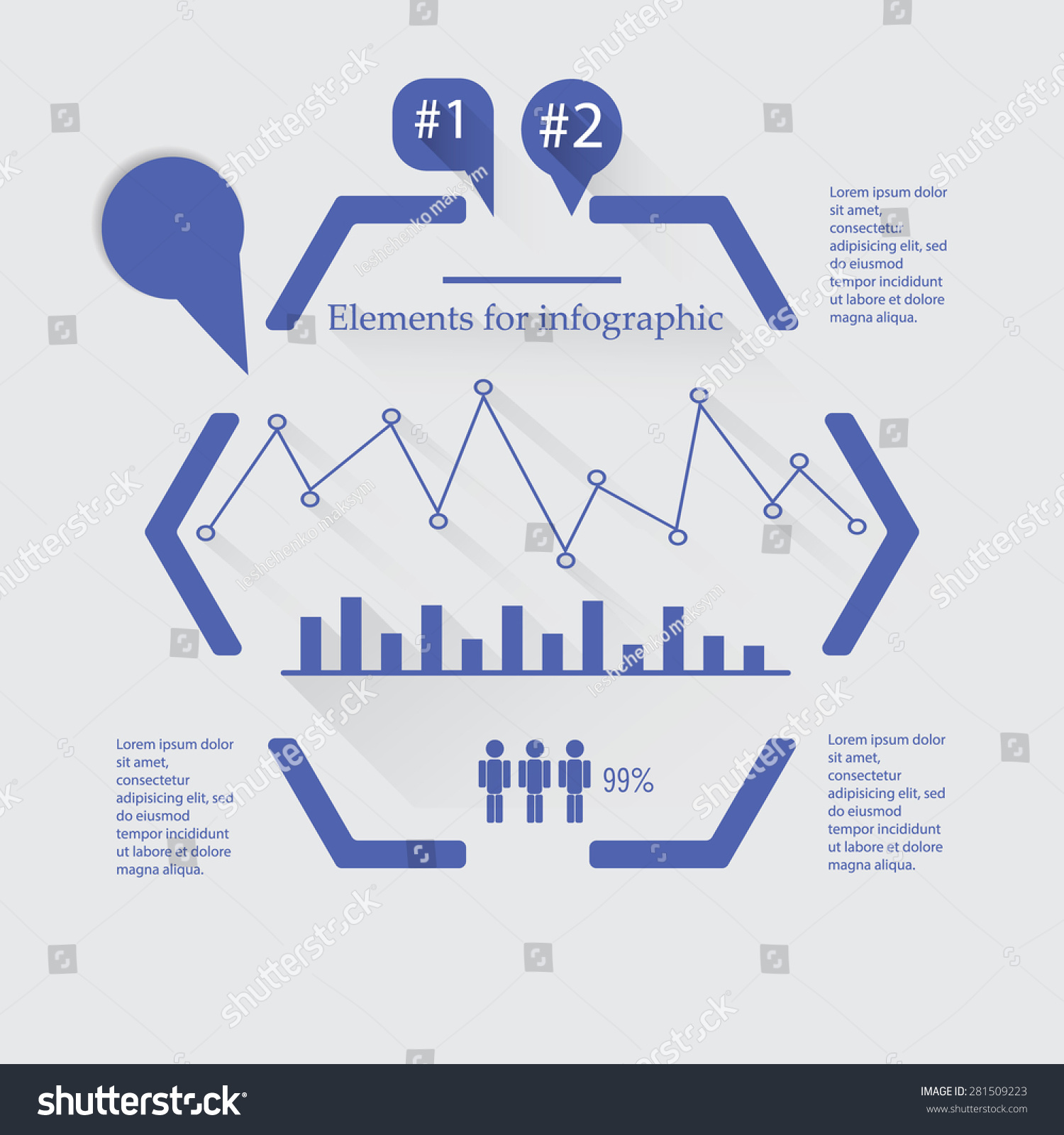 All elements graph can be used stock vector 281509223 shutterstock all the elements of the graph can be used to create your own graphics biocorpaavc Gallery