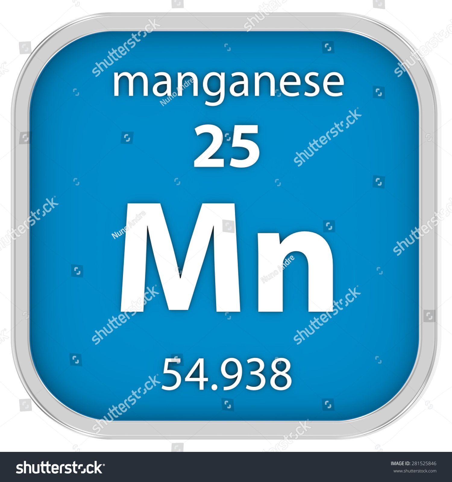 Manganese material on periodic table part stock illustration manganese material on the periodic table part of a series gamestrikefo Images