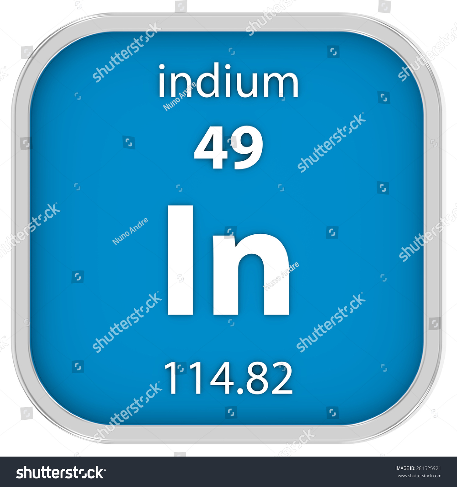 Indium on the periodic table image collections periodic table images indium material on periodic table part stock illustration indium material on the periodic table part of gamestrikefo Image collections