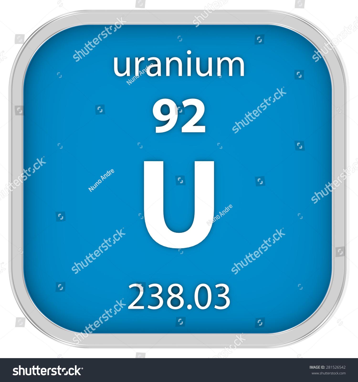 Uranium Material On Periodic Table Part Stock Illustration 281526542