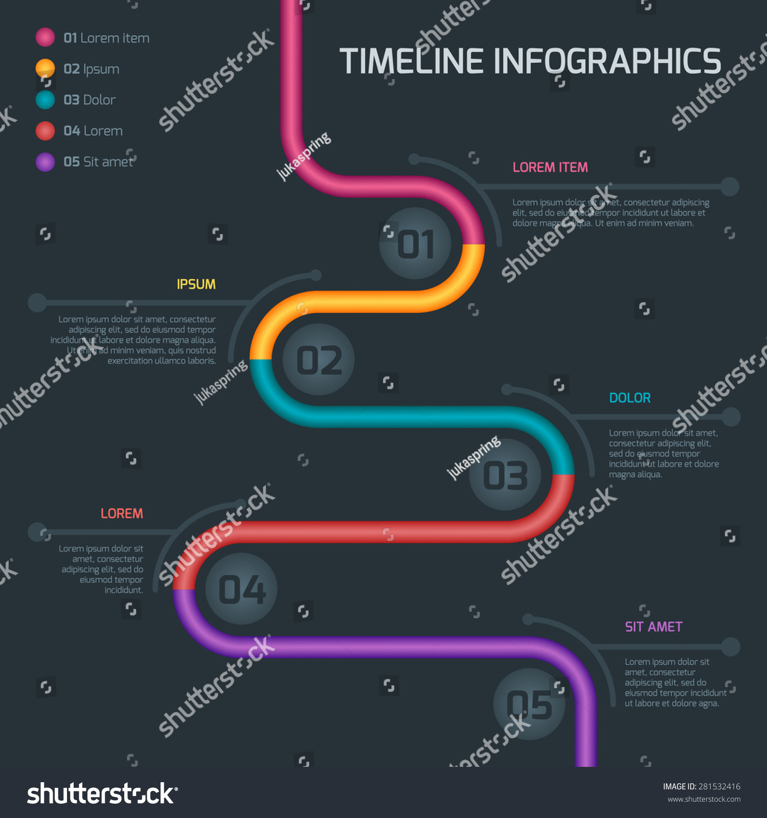 timeline infographic vector cv resume business stock vector 281532416