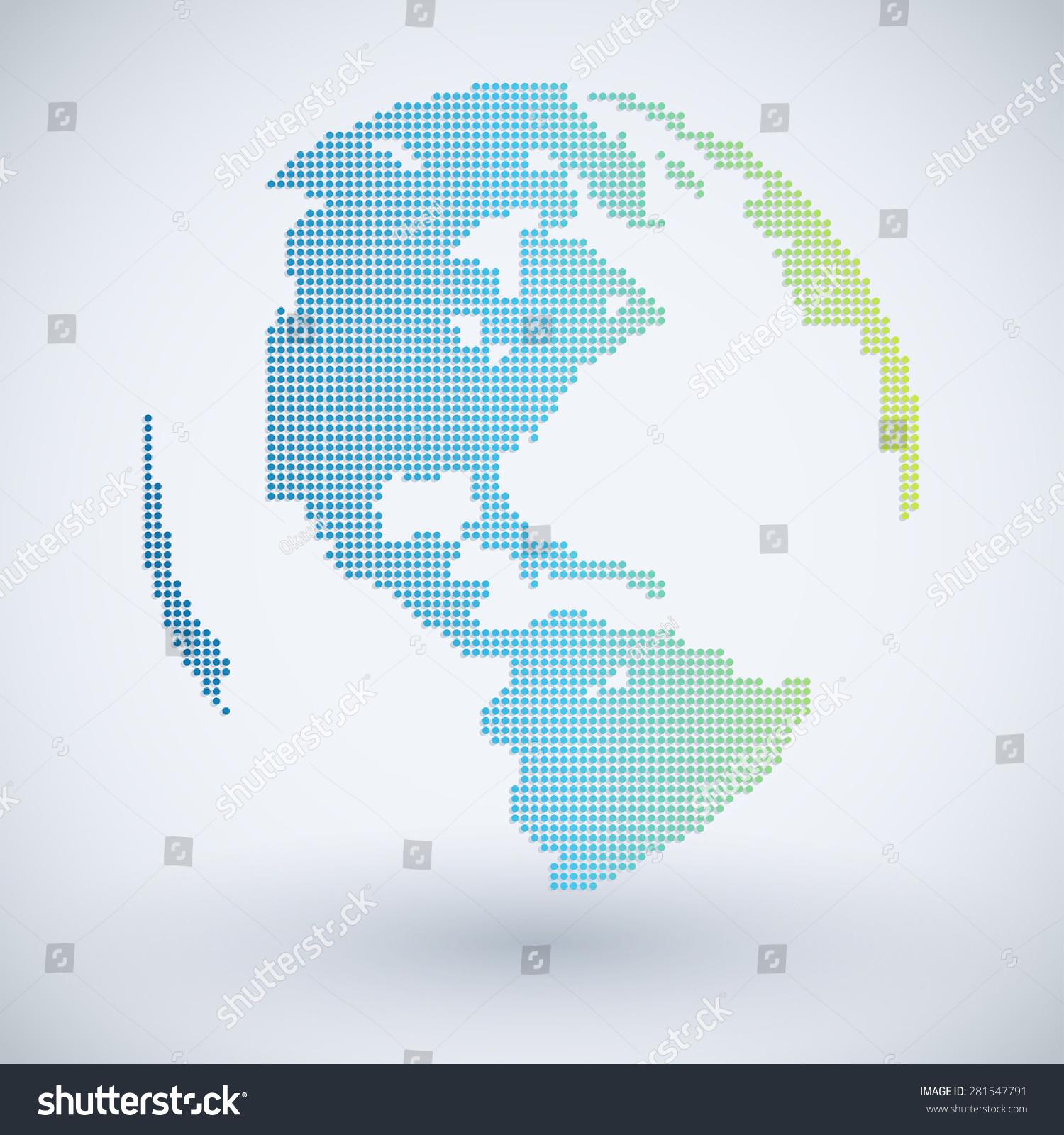 World map pixel on white background stock vector hd royalty free world map in pixel on white background vector illustration gumiabroncs Choice Image