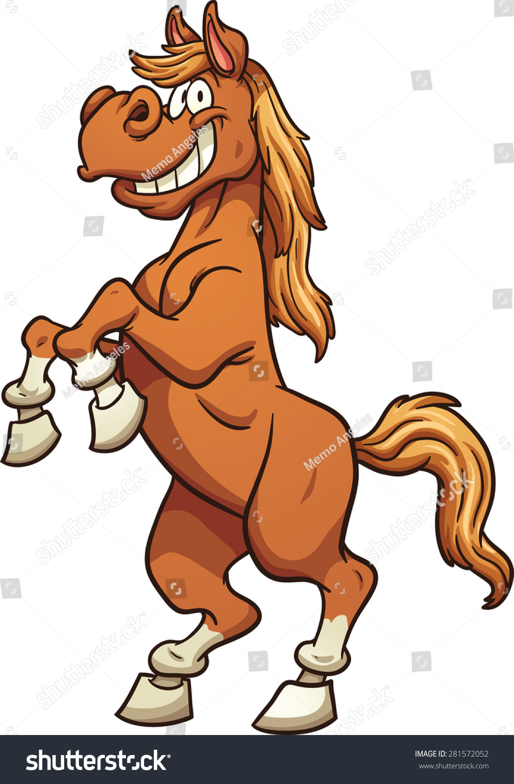 cartoon horse standing on two legs stock vector 281572052