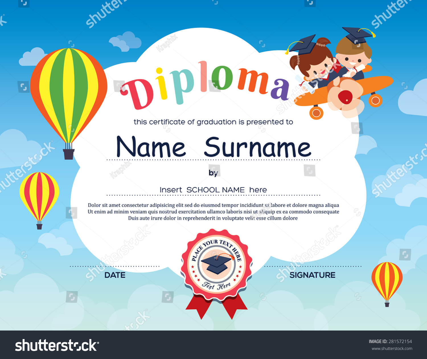 Kids Certificate Templates Certificate Template with Kids in – School Certificate Format
