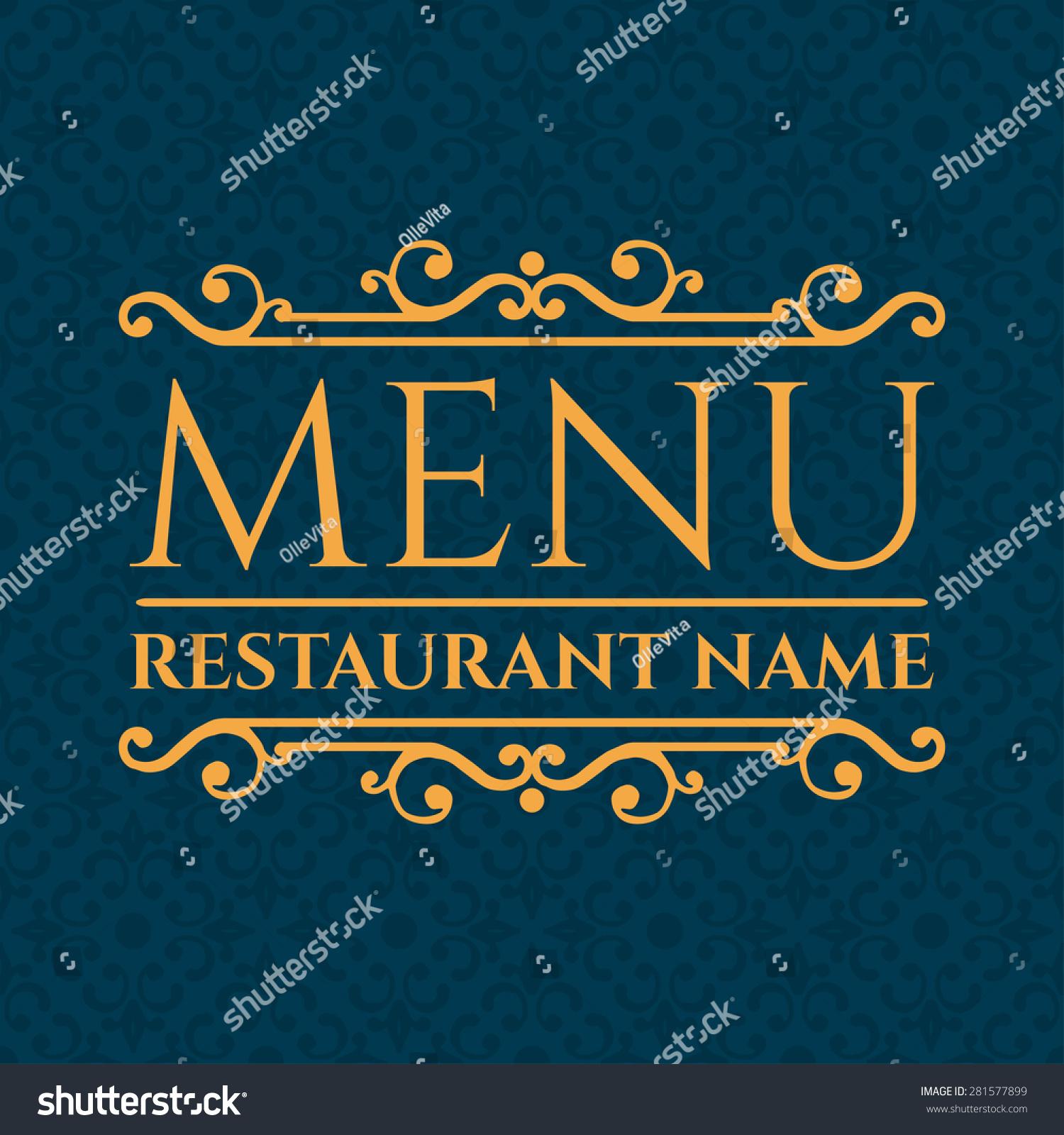 Vector De Stock Libre De Regalias Sobre Elegant Restaurant Menu Design Vector Illustration281577899