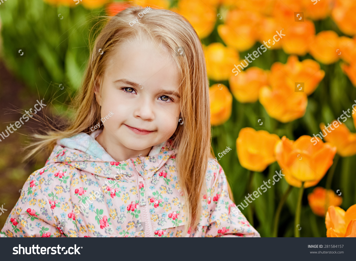 portrait very cute pretty girls blonde stock photo (royalty free