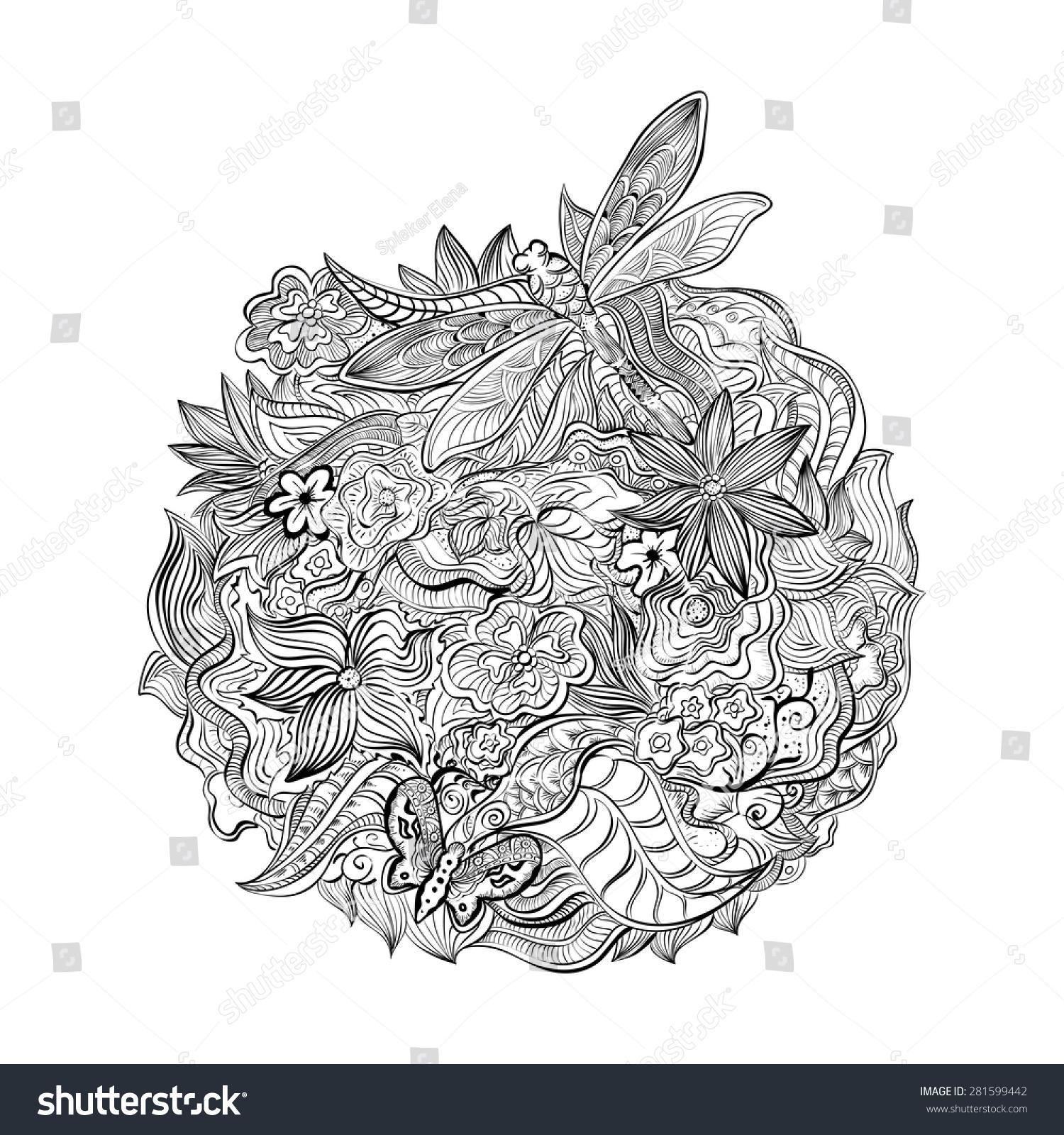 Henna Paisley Mehndi Abstract Floral Vector Stock Vector Royalty