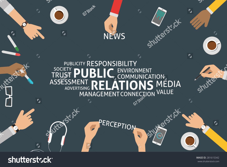 Vector Public Relations Concepttemplate Stock Vector 281615342 ...