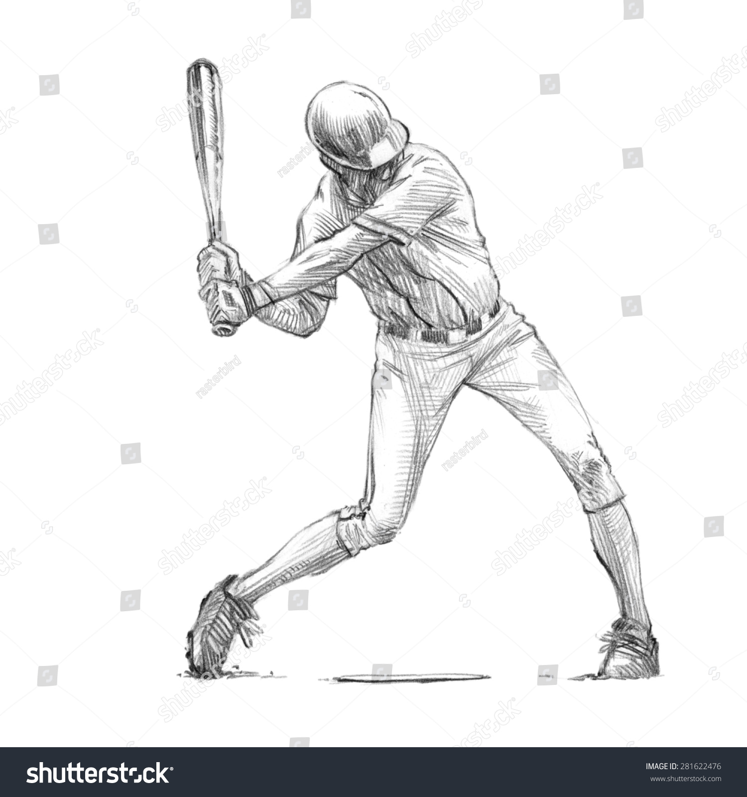 Uncategorized How To Draw A Baseball Pitcher sports series sketchy pencil drawing baseball stock illustration of a player batter high resolution scan