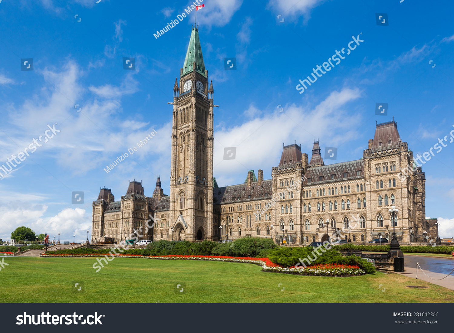 Center block peace tower parliament hill stock photo for Center block house