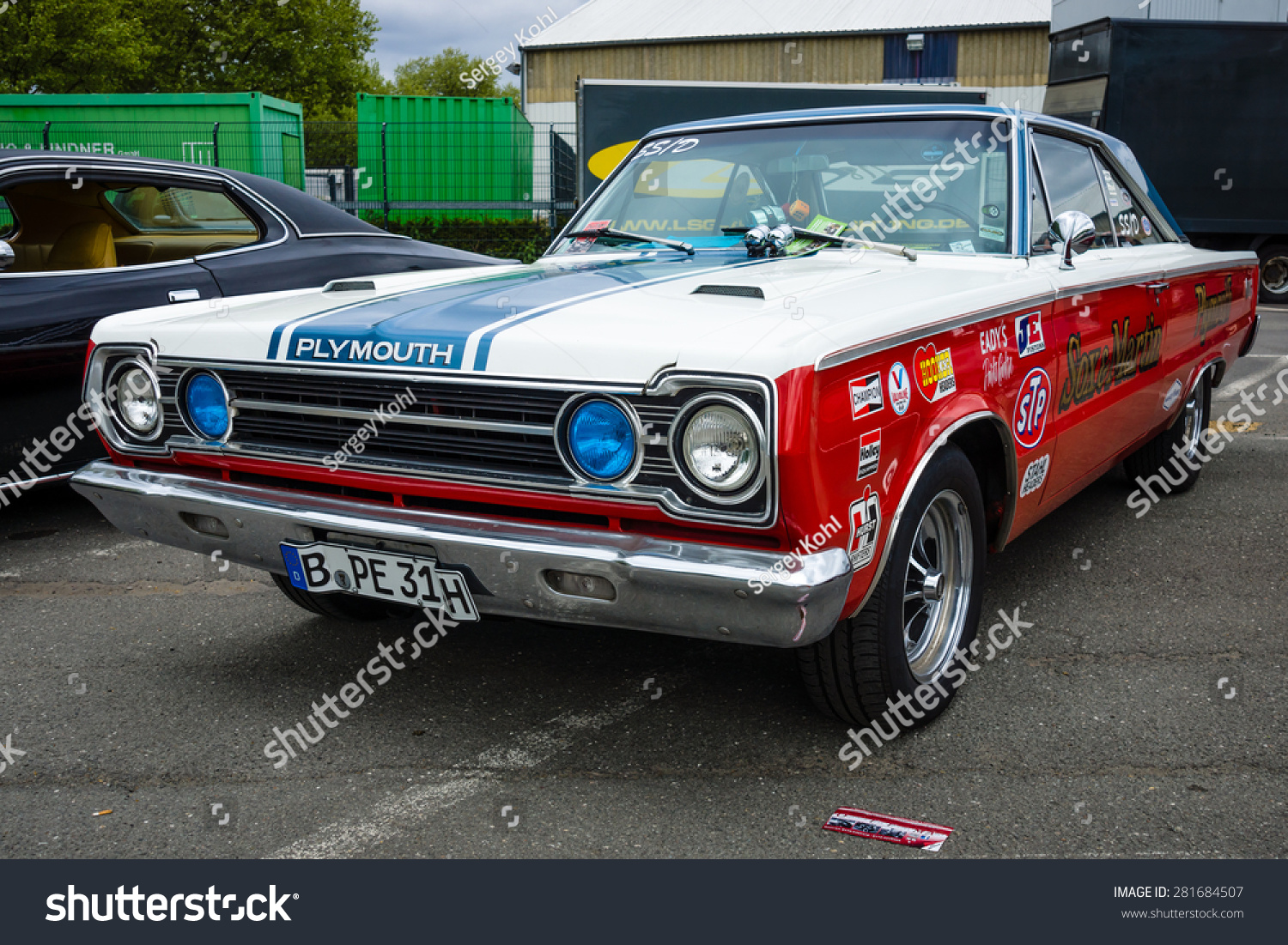 Berlin May 10 2015 Muscle Car Plymouth Gtx In The Racing