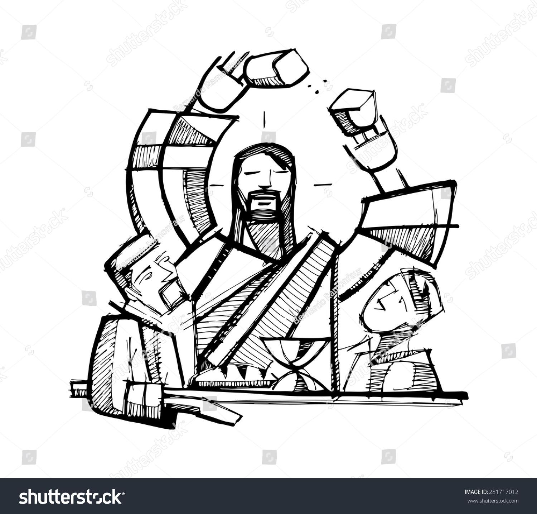 how to draw jesus cartoon