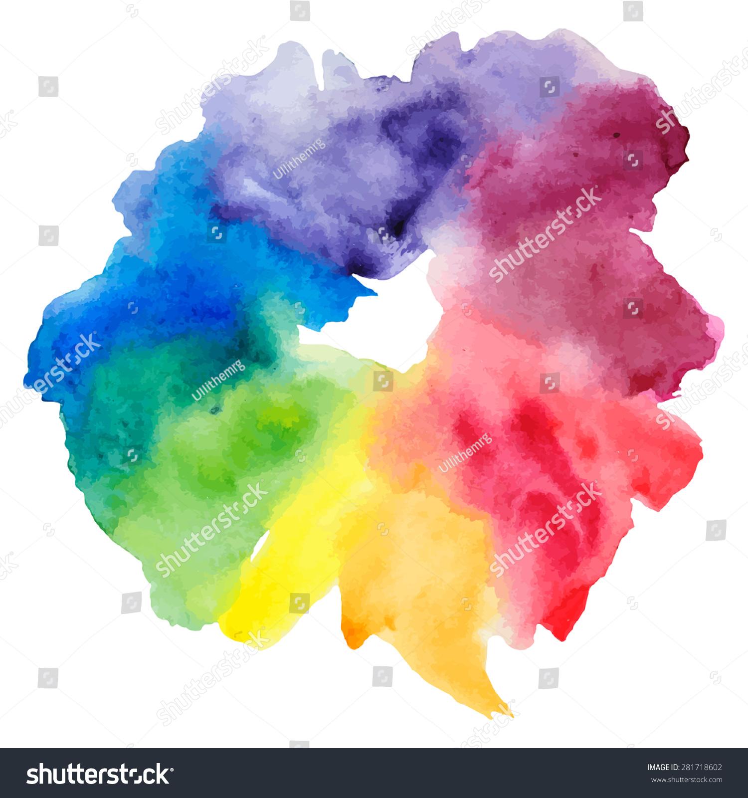 Watercolor Color Wheel 281718602