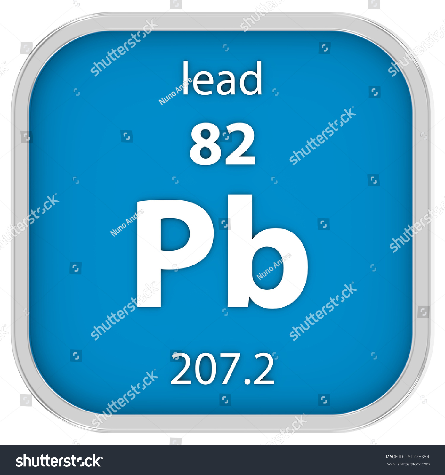 Lead Material On Periodic Table Part Stock Illustration 281726354 ...