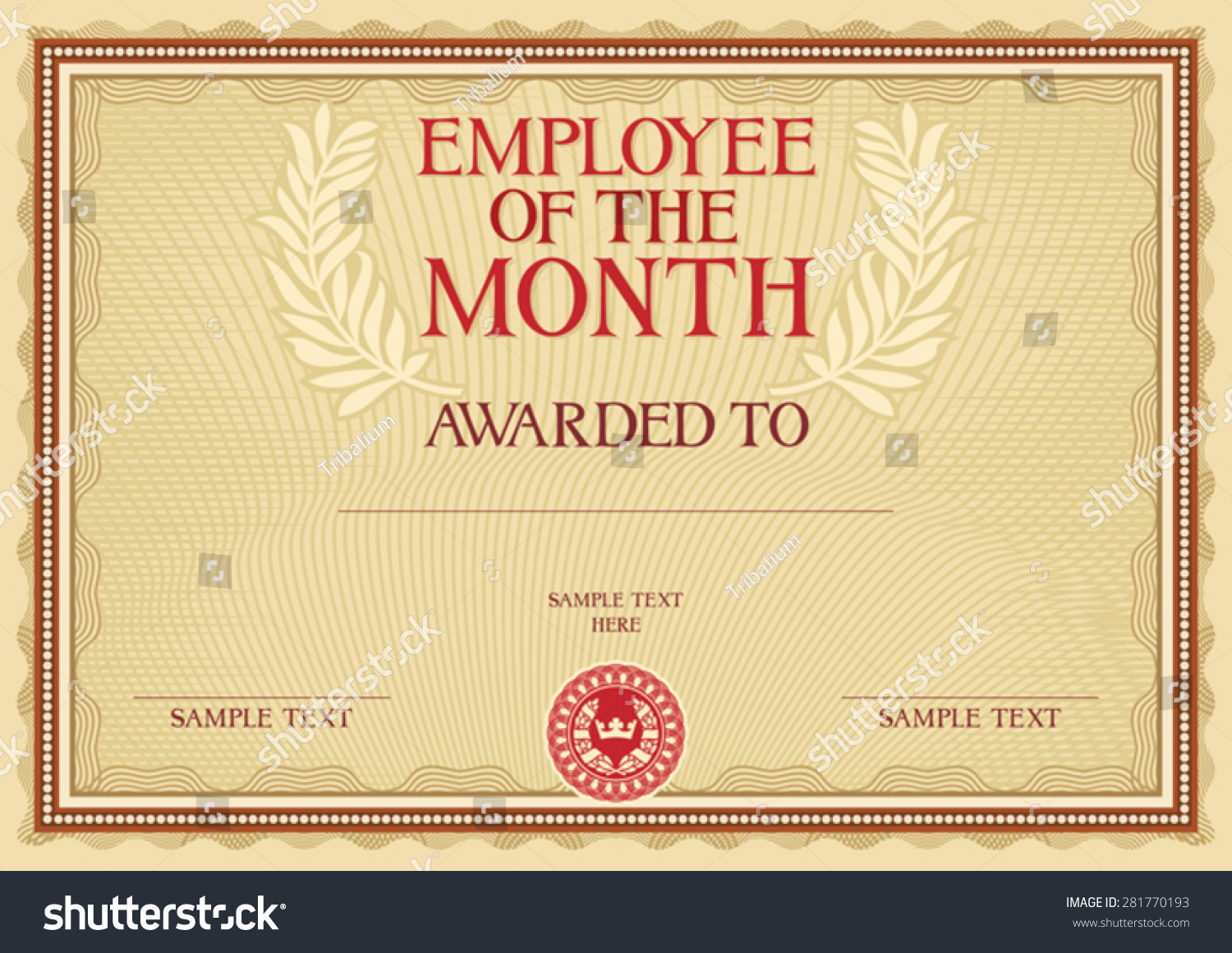 Employee of the month certificate for Employee of the month certificate template free download