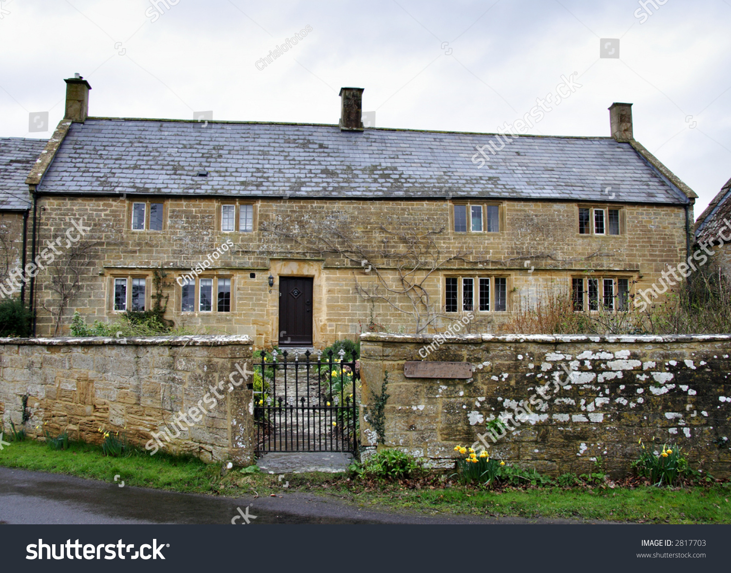 Natural Stone English Farmhouse In Rural Southern England
