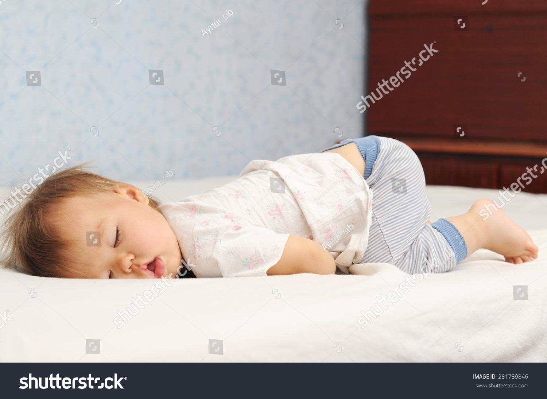 Funny Sleep Baby Bottom Little Kid Stock Photo Edit Now 281789846