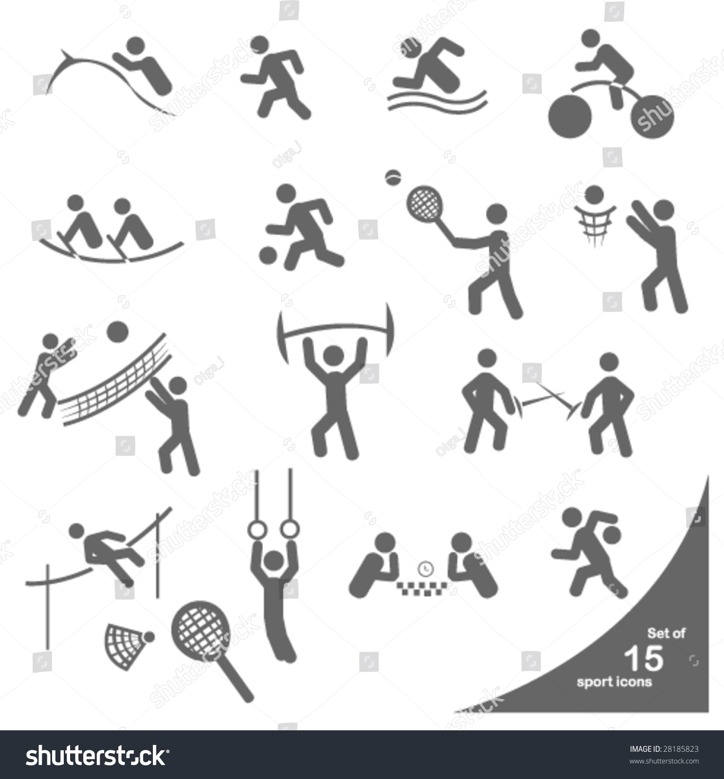 Sport symbols stock vector 28185823 shutterstock sport symbols biocorpaavc