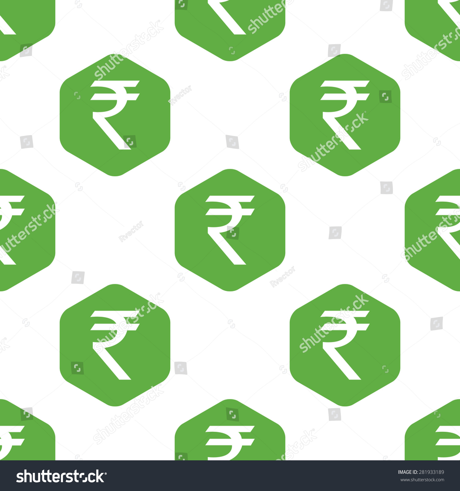 Symbol Indian Rupee Octagon Repeated On Stock Illustration 281933189