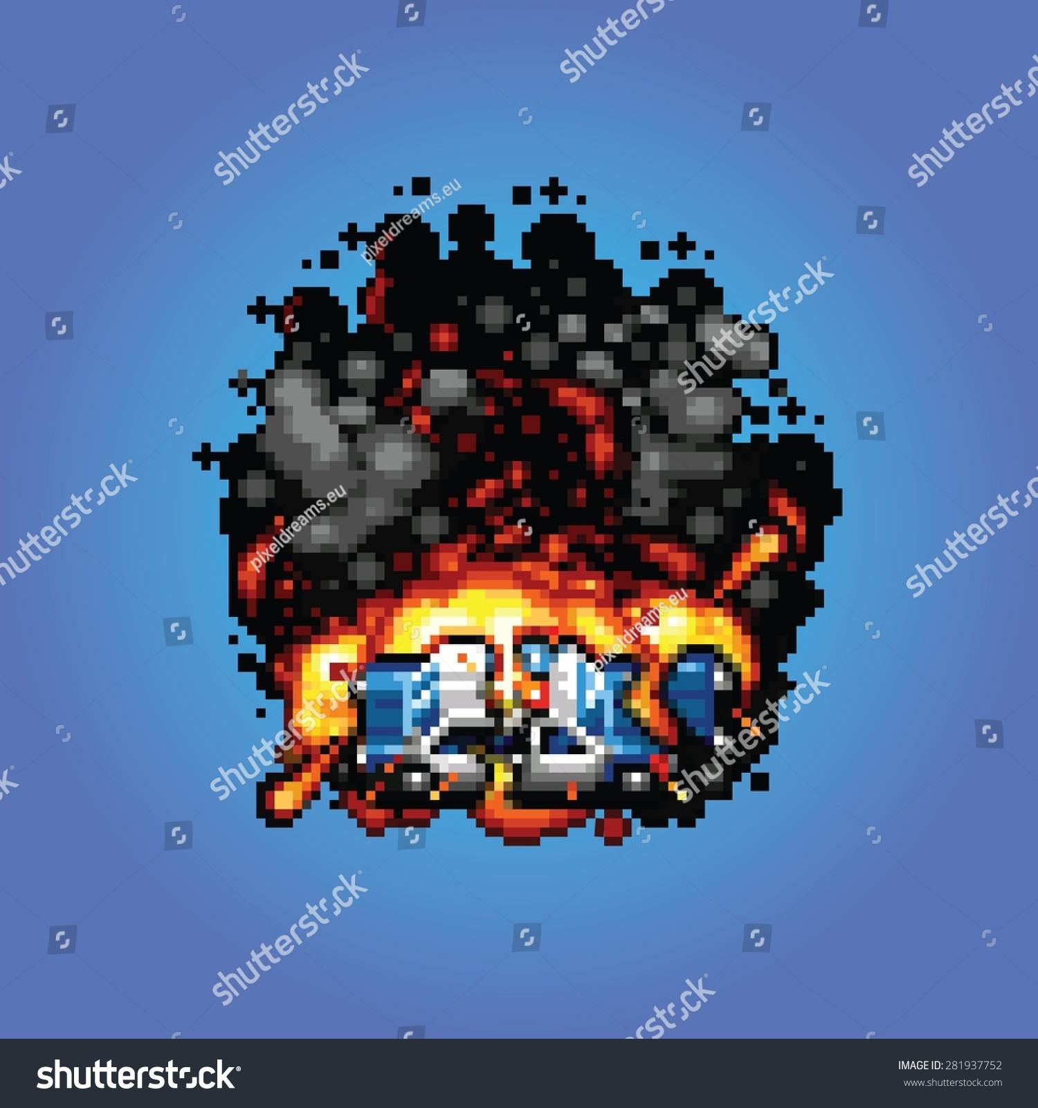 Image Vectorielle De Stock De Explosion Dune Voiture De
