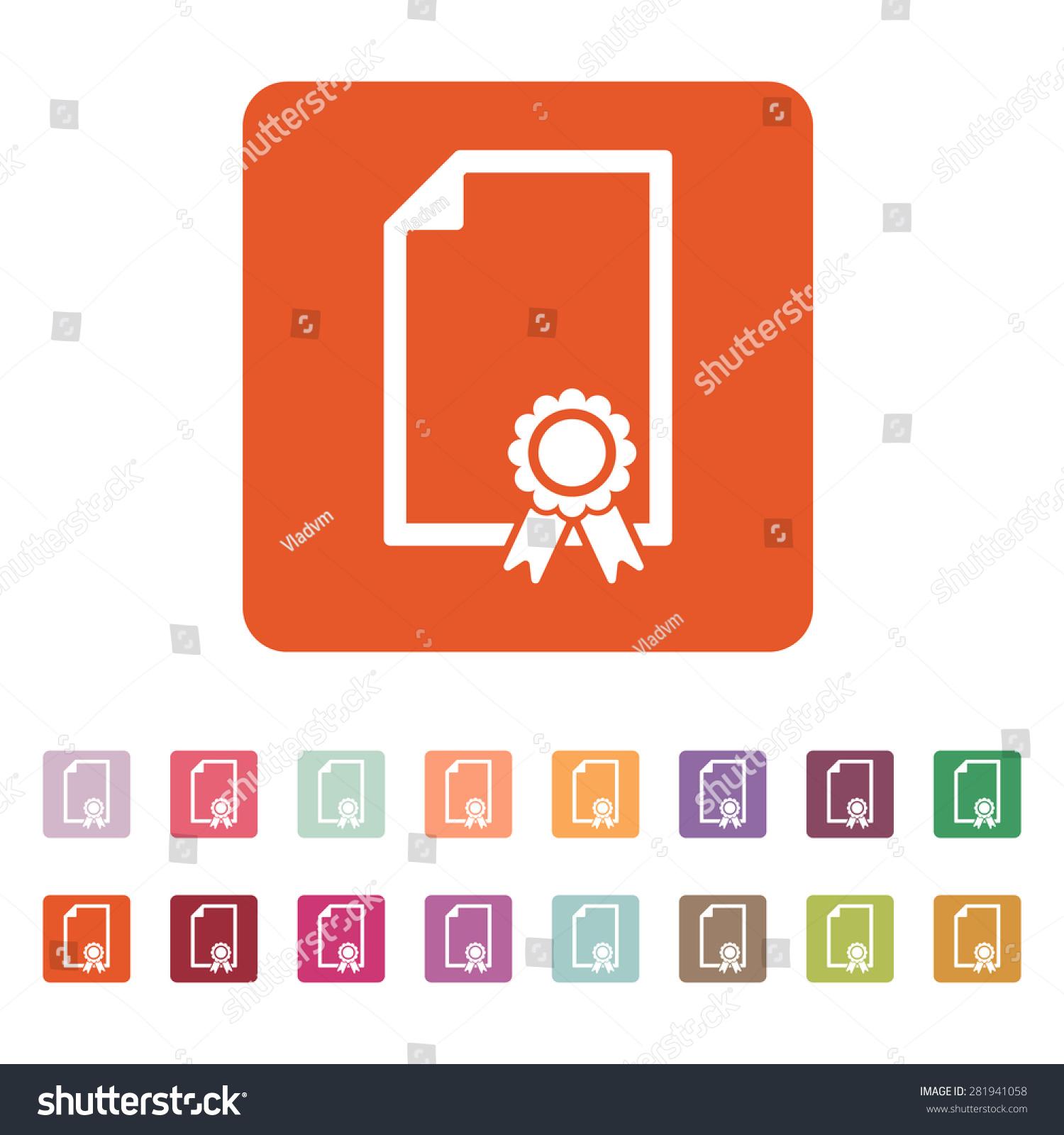 Certificate icon diploma symbol flat vector stock vector 281941058 the certificate icon diploma symbol flat vector illustration button set buycottarizona