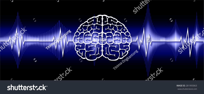Vector blue brain processes technology creative stock vector vector blue brain processes technology creative idea concept wave ecg ekg ccuart Choice Image