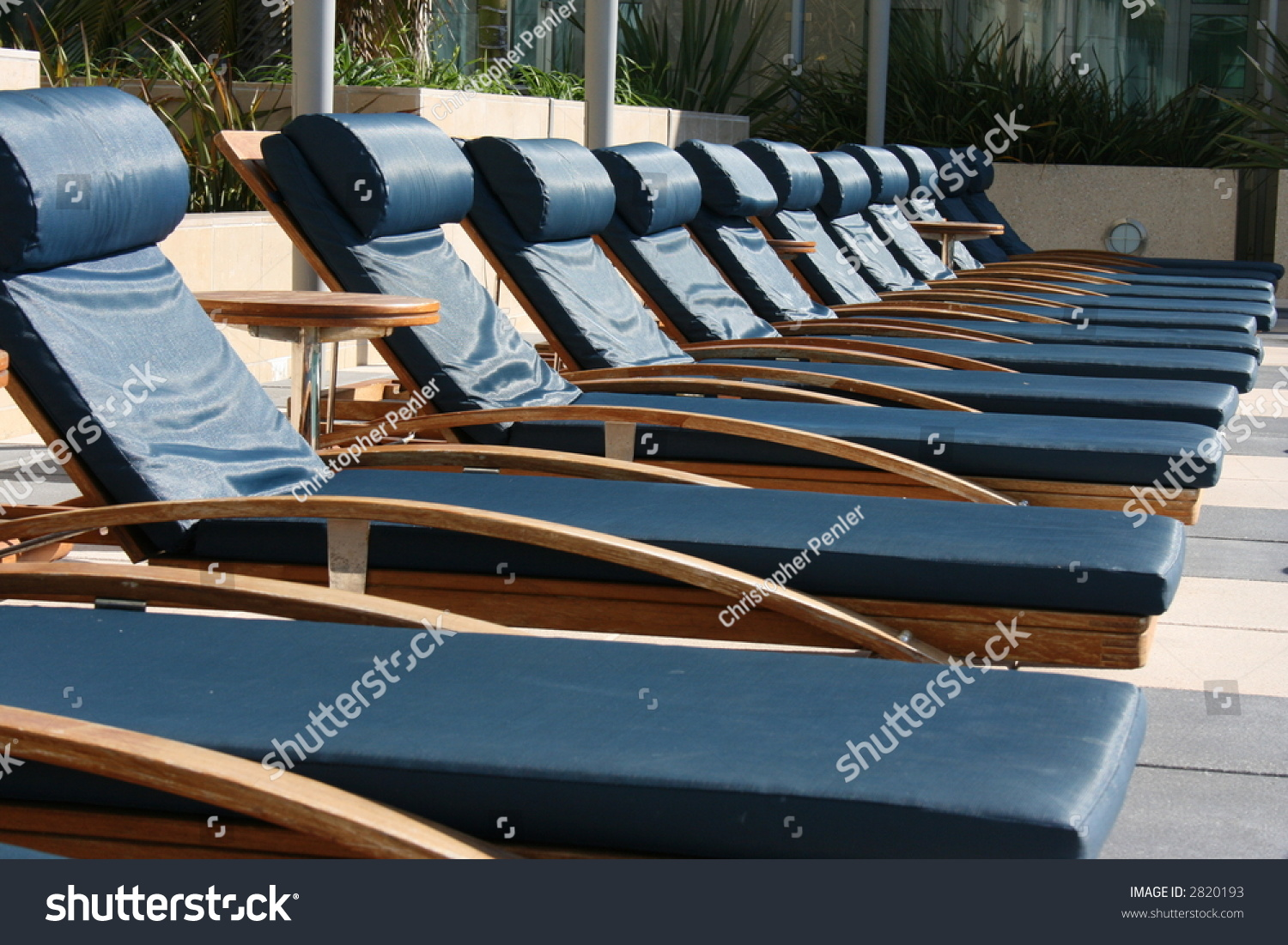 Poolside Lounge Chairs Stock Shutterstock