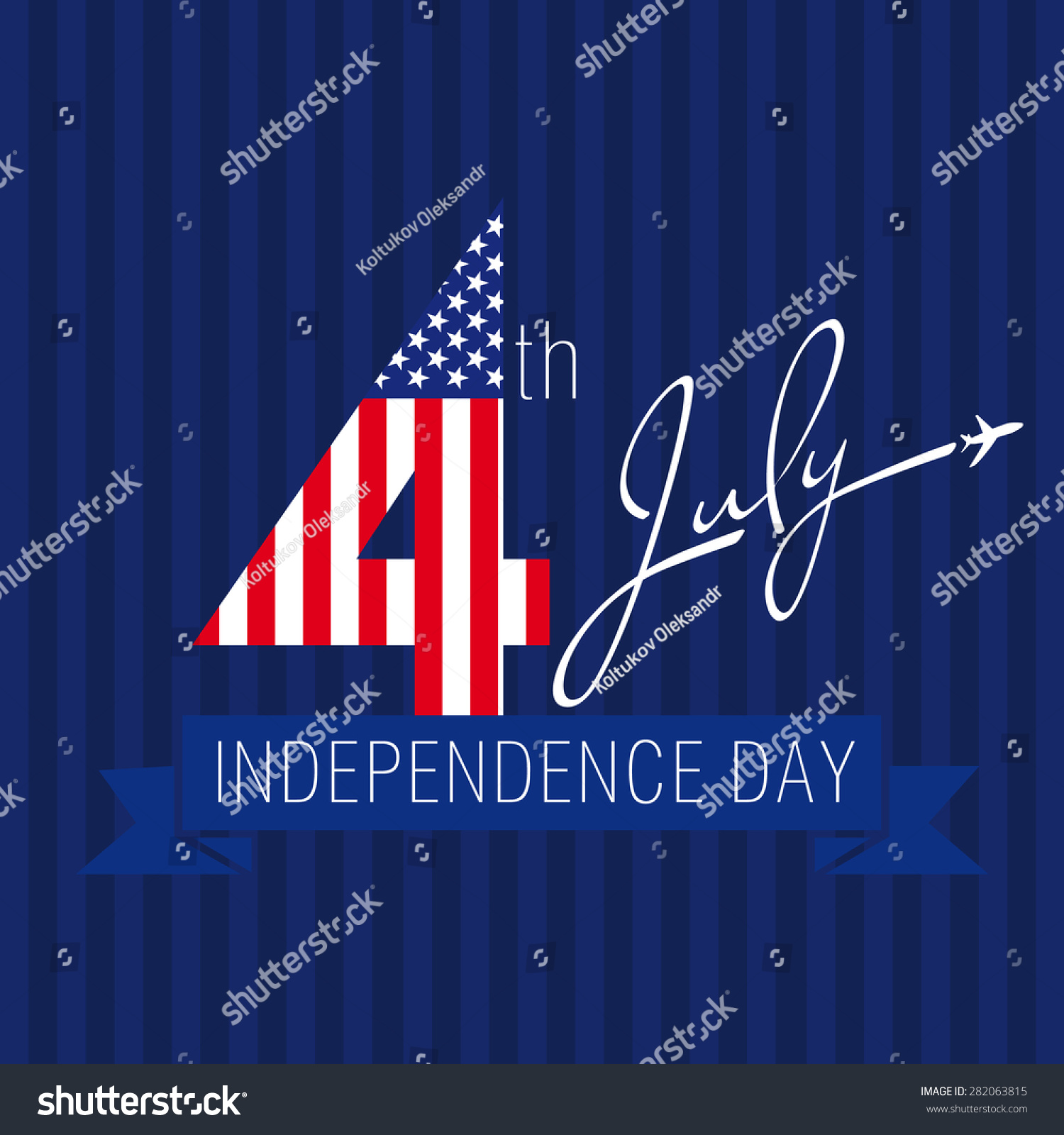 Independence Day Usa Vector Card 4 Stock Vector Royalty Free