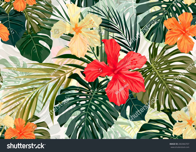 Royalty-free Summer colorful hawaiian seamless… #282066707 Stock ...