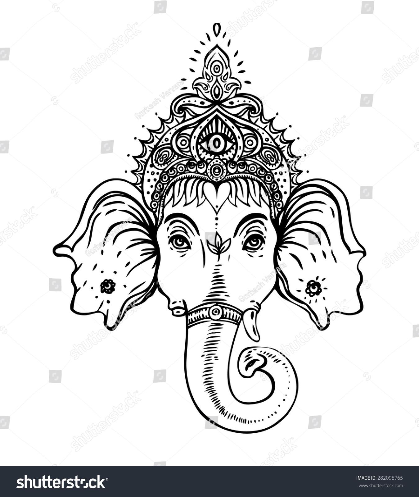 coloring page hindu mythology gods and goddesses 38 printable