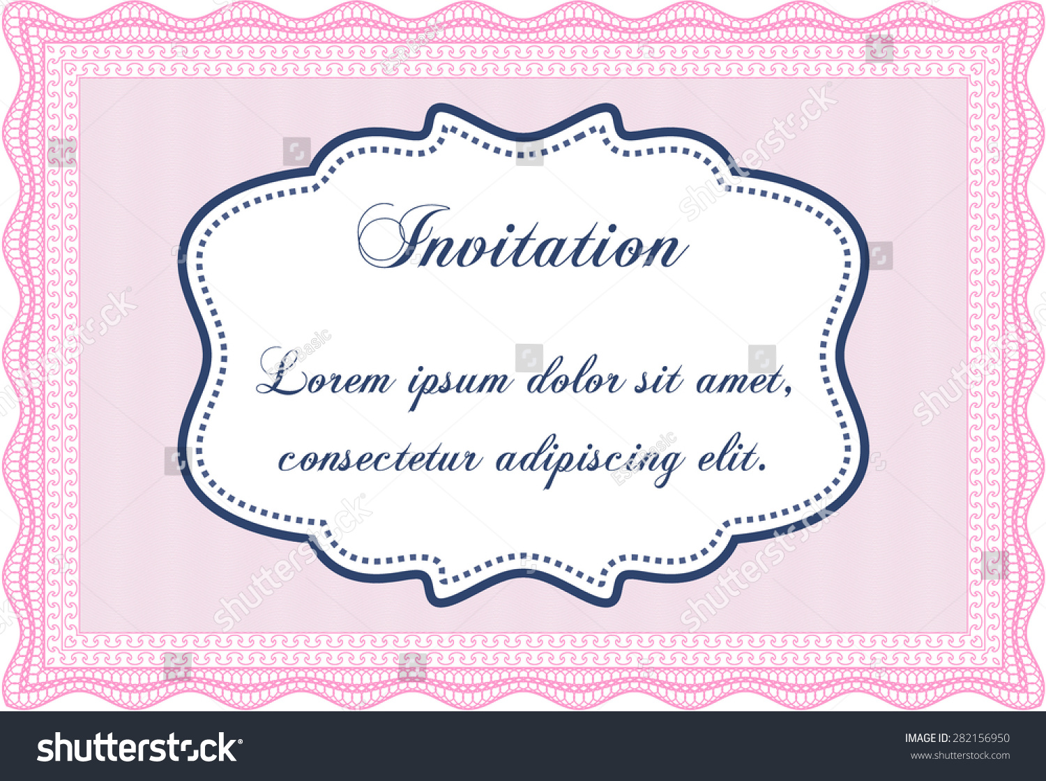 Formal invitation template border frame complex background stock formal invitation template border frameplex background excellent design stopboris Image collections