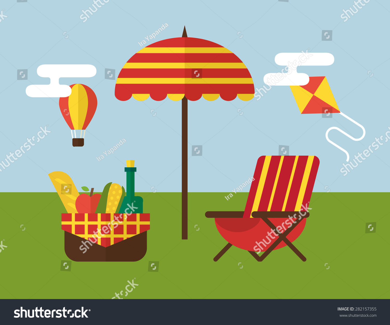 Bbq Picnic Barbecue Grill Cooking Party Stock Vector 282157355 ...