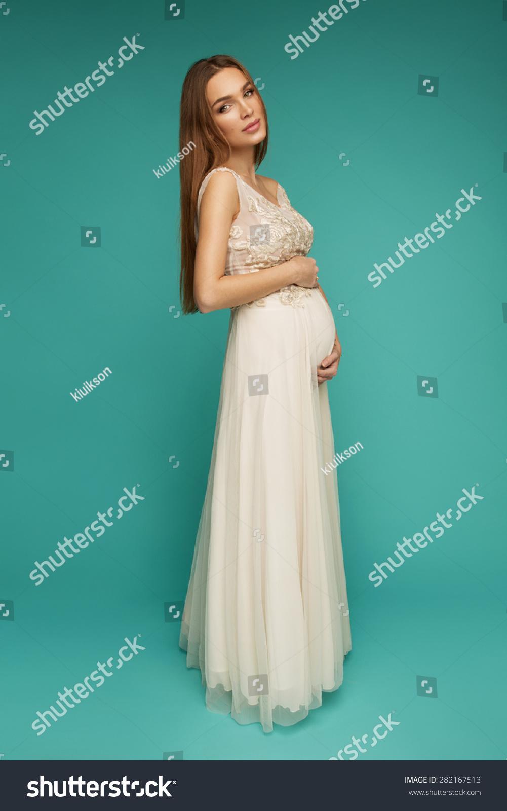 Beautiful Woman Pregnant Stock Photo (Royalty Free) 282167513 ...