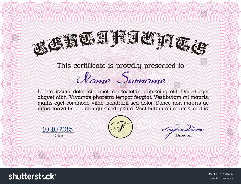 Sample certificate diploma printer friendly money stock vector sample certificate or diploma printer friendly money stylegood design yadclub Gallery